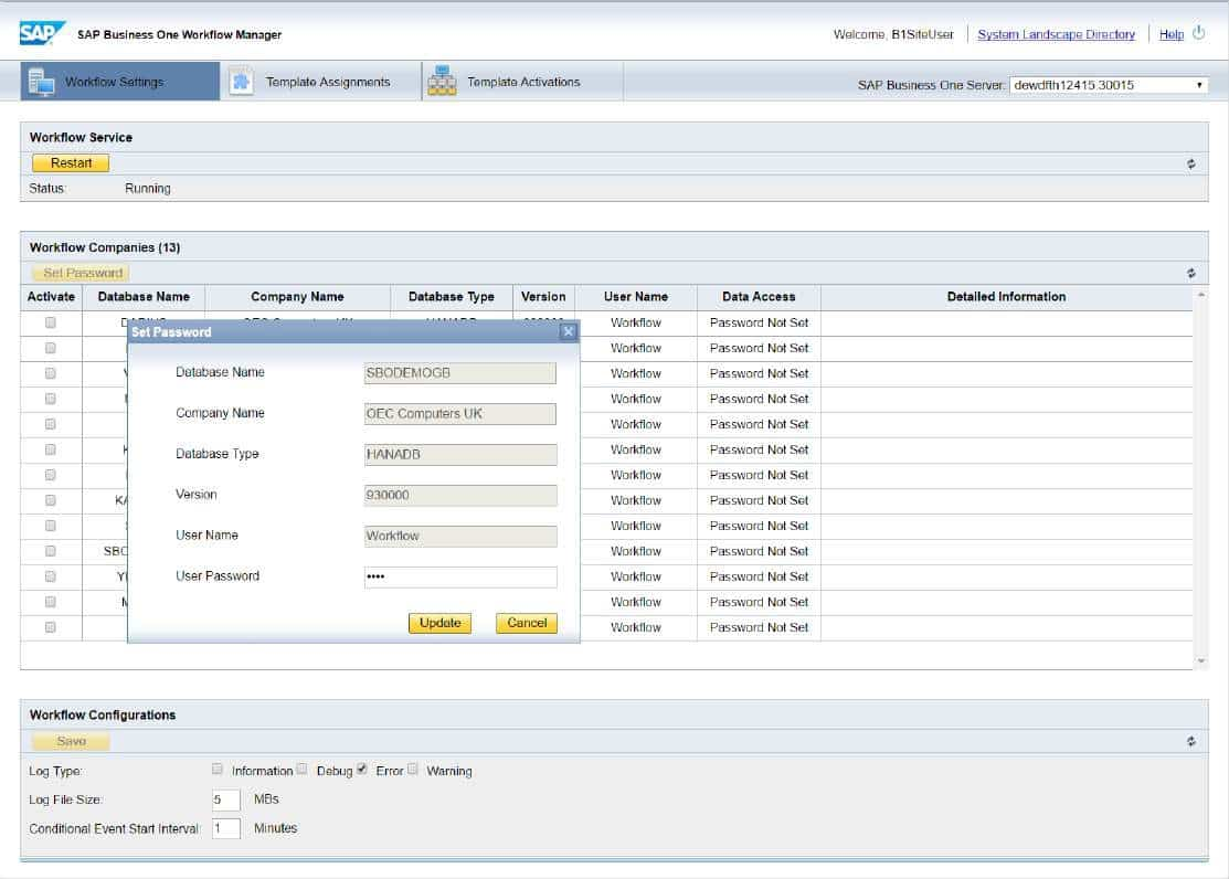SAP Business One Version 9.3 - Plattform - Erweiterbarkeit - Web-basiertes Workflow Management